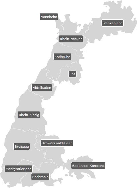 Bezirke im LV Baden